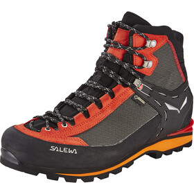 SALEWA Crow GTX Shoes Herr black/papavero